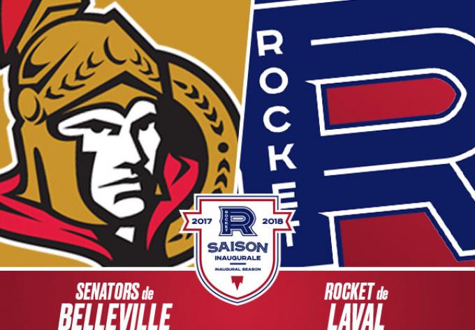 ROCKET DE LAVAL vs. SENATORS DE BELLEVILLE, samedi  7 octobre 2017 - Laval