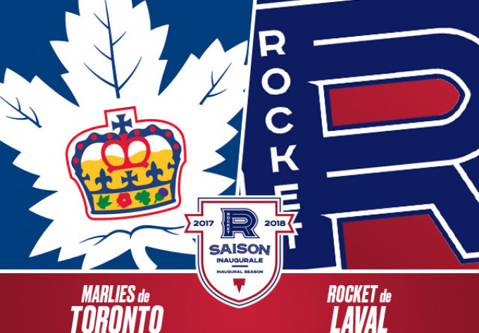 ROCKET DE LAVAL vs. MARLIES DE TORONTO, mercredi  1 novembre 2017 - Laval