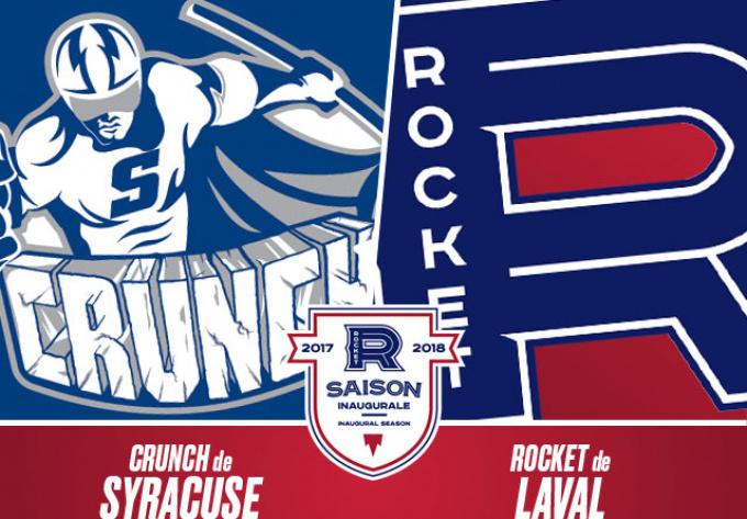 ROCKET DE LAVAL vs. CRUNCH DE SYRACUSE, mercredi 20 décembre 2017 - Laval