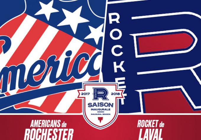 ROCKET DE LAVAL  vs. AMERICANS DE ROCHESTER, vendredi 22 décembre 2017 - Laval