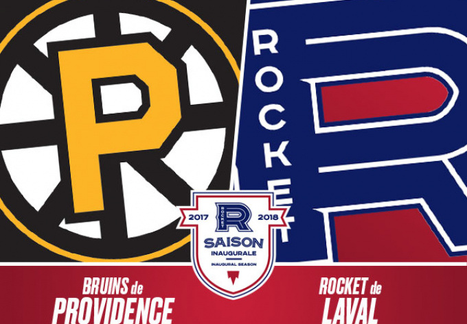 LAVAL ROCKET vs. PROVIDENCE  BRUINS, Wednesday, March  7, 2018 - Laval