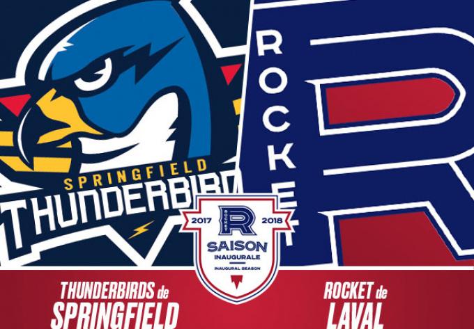 ROCKET DE LAVAL vs. THUNDERBIRDS DE SPRINGFIELD, vendredi  6 avril 2018 - Laval
