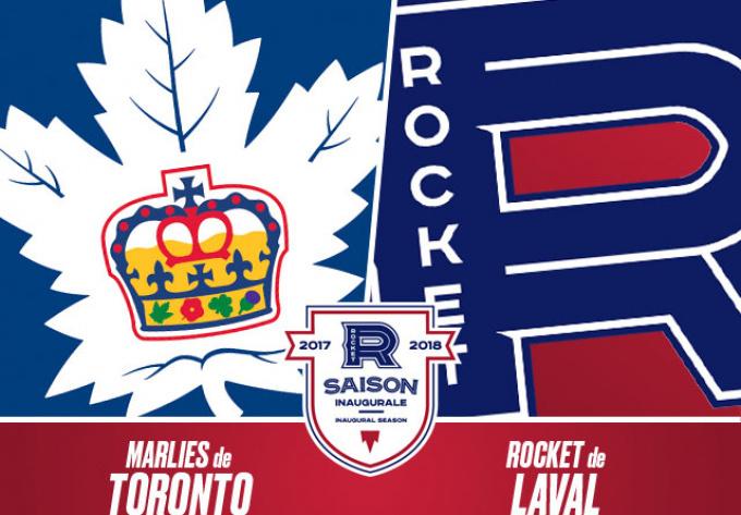 ROCKET DE LAVAL vs. MARLIES DE TORONTO, vendredi 13 avril 2018 - Laval