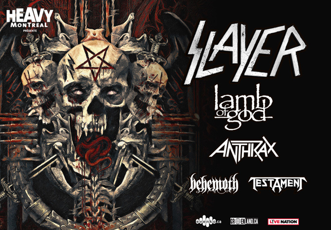 Slayer, mercredi 30 mai 2018 - Laval