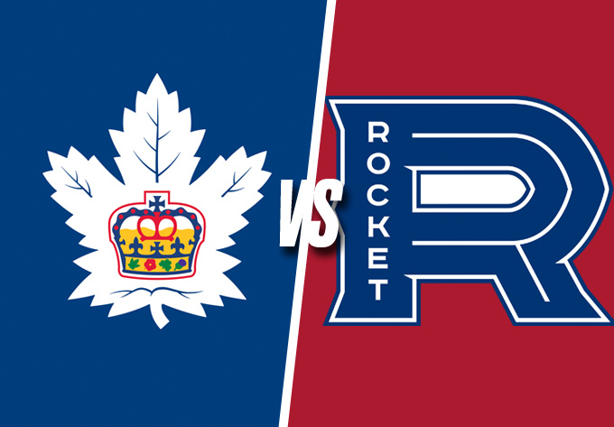 ROCKET DE LAVAL vs. MARLIES DE TORONTO, vendredi  8 mars 2019 - Laval