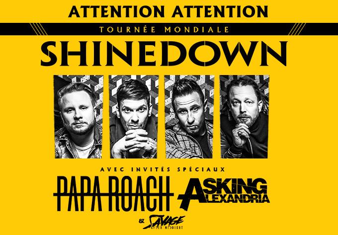 Shinedown, mardi 24 septembre 2019 - Laval