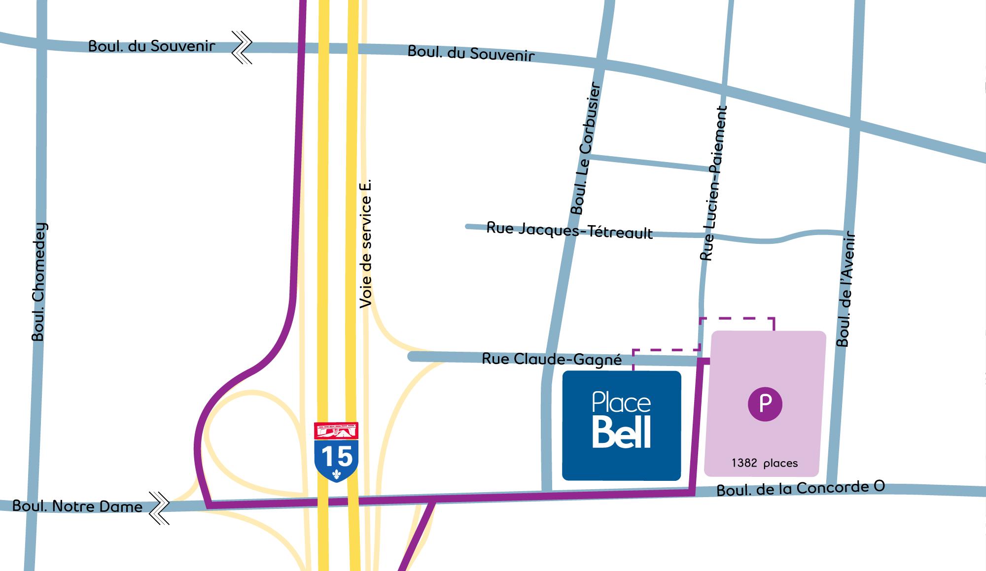 Métro RTM Montmorency Map