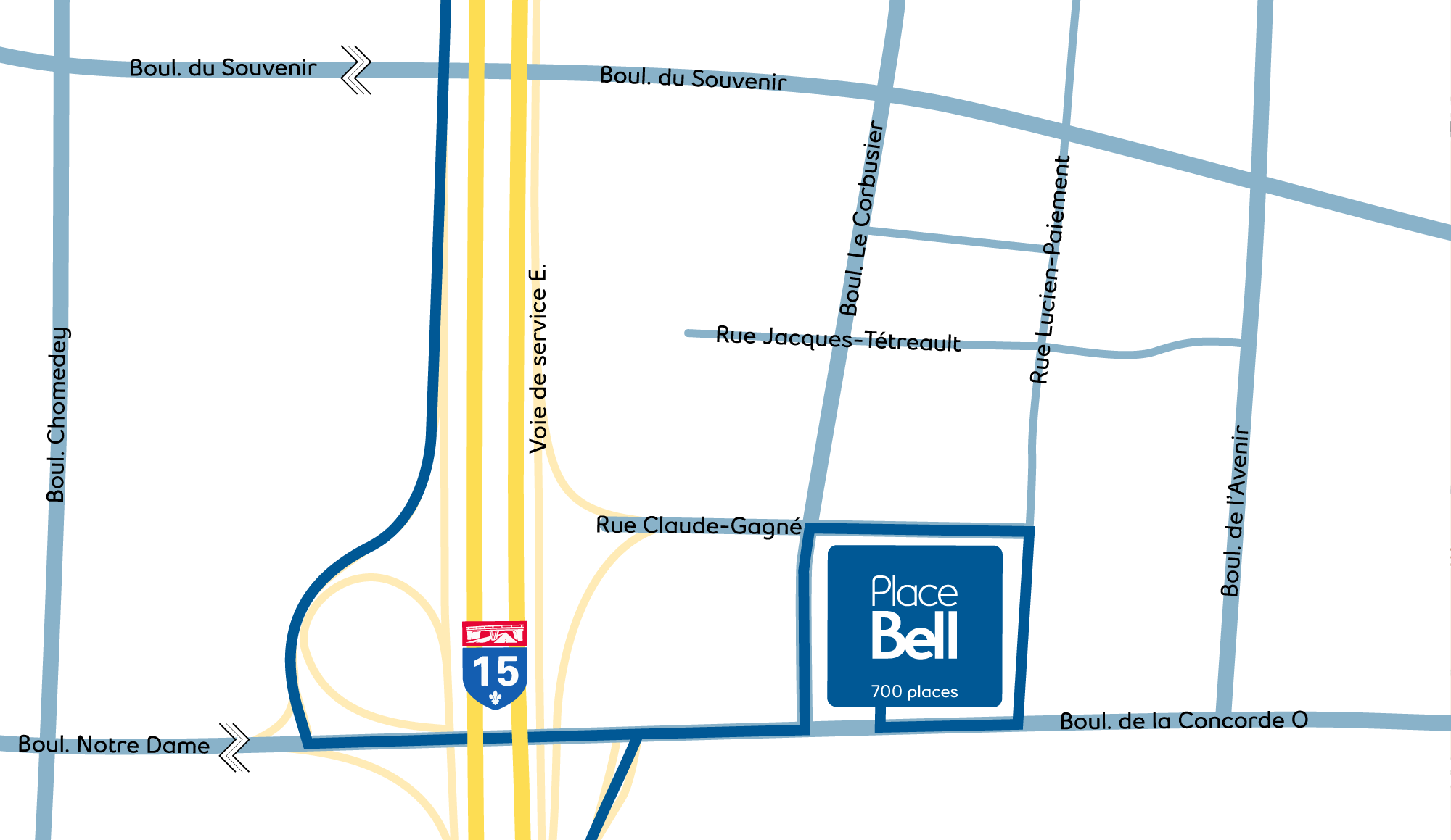 Place Bell Map